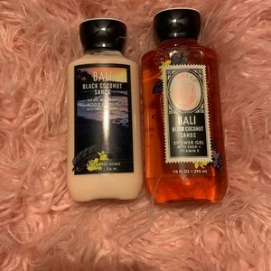 Bali black coconut sands body wash & lotion